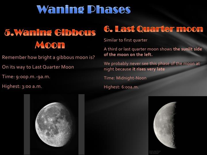 Waning Phases