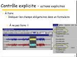 contr le explicite actions explicites