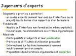 jugements d experts