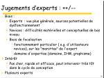 jugements d experts1