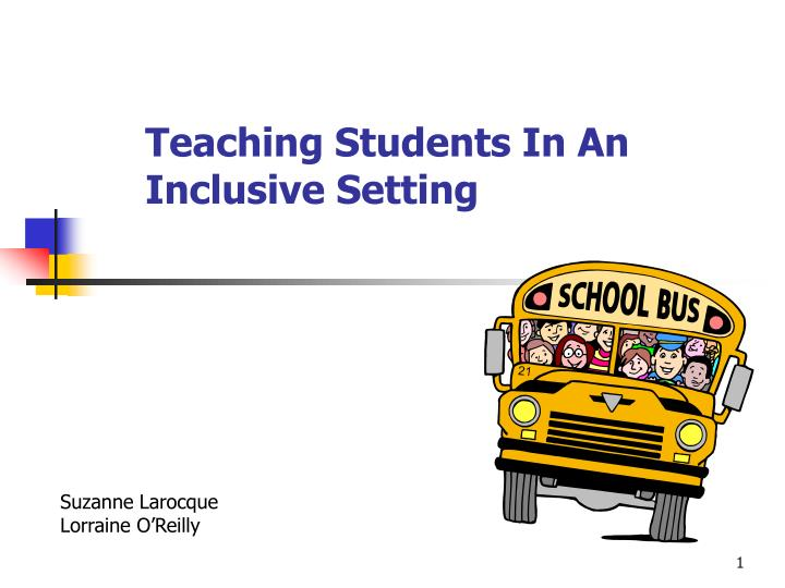 teaching students in an inclusive setting n.