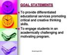 goal statements