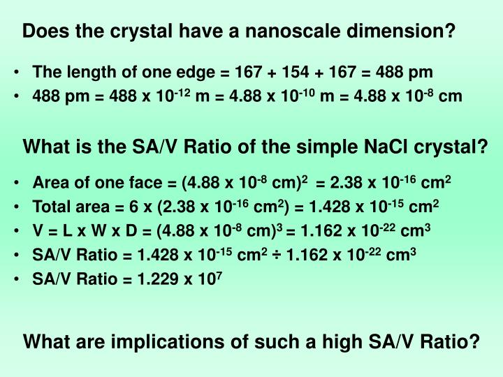 Does the crystal have a nanoscale dimension?