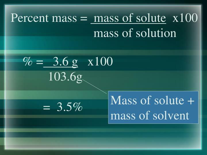 Percent mass =