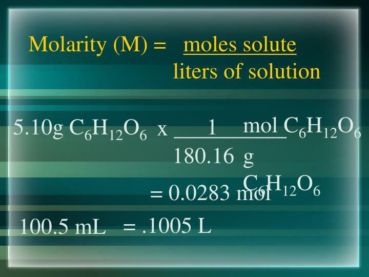 Molarity (M) =