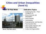 cities and urban inequalities level 6