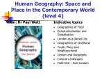 human geography space and place in the contemporary world level 4