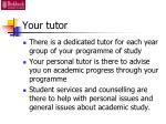 your tutor