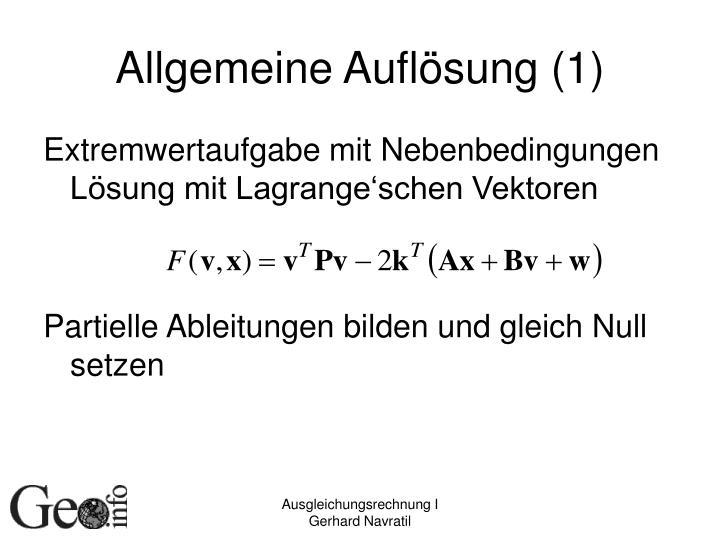 Allgemeine Auflösung (1)