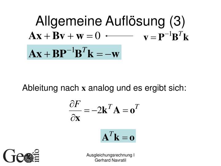 Allgemeine Auflösung (3)