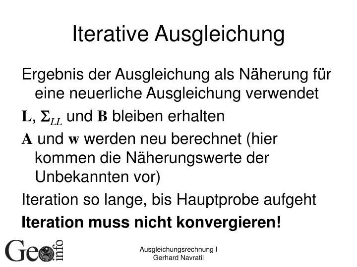 Iterative Ausgleichung