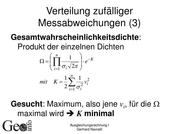 Verteilung zufälliger Messabweichungen (3)