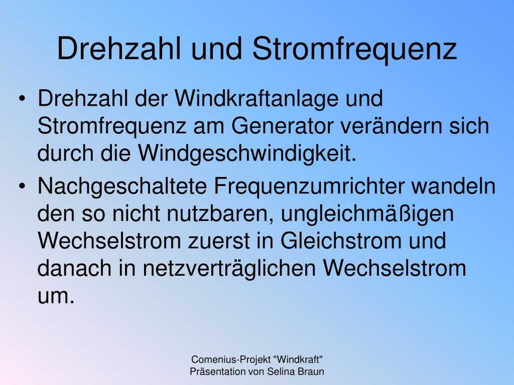 Stromfrequenz Deutschland