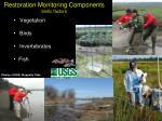 restoration monitoring components biotic factors