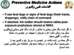 preventive medicine actions