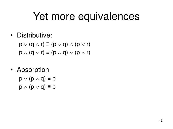 Yet more equivalences