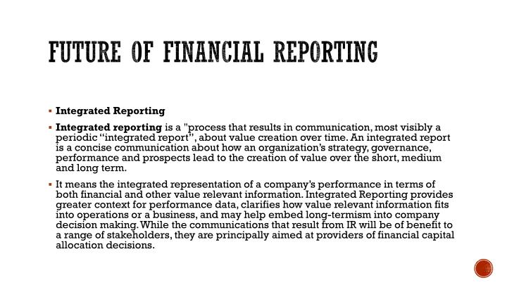 Future of financial reporting