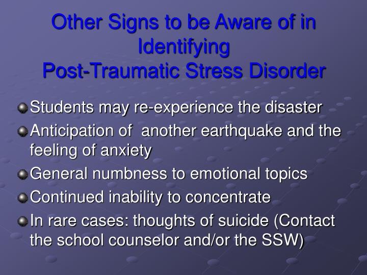 Other Signs to be Aware of in Identifying