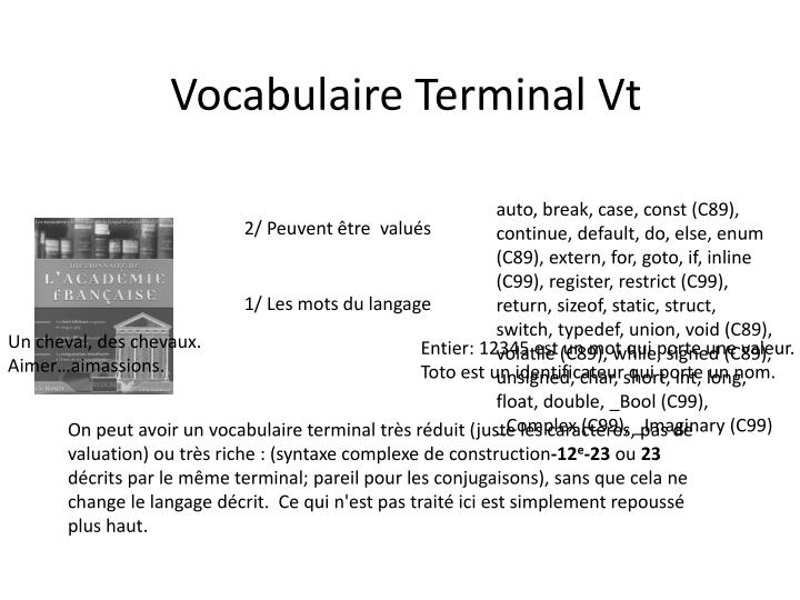 Vocabulaire Terminal