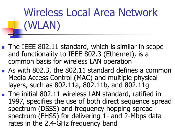 PPT - Wireless Local Area Network (WLAN) PowerPoint