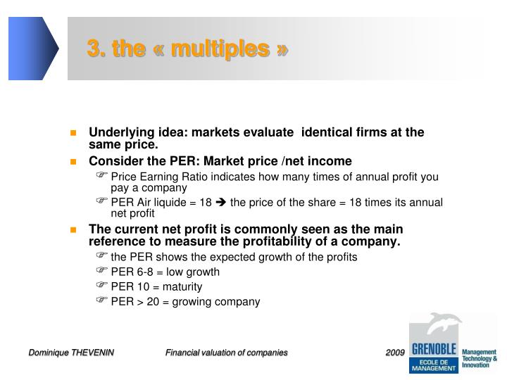 3. the « multiples »