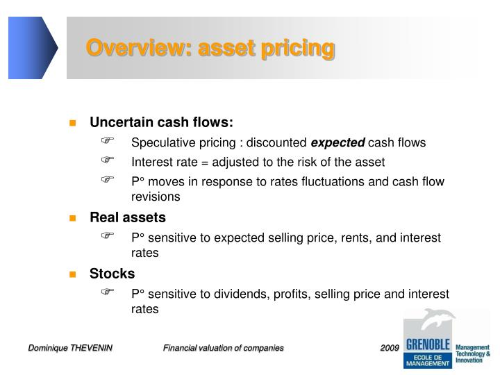 Overview: asset pricing