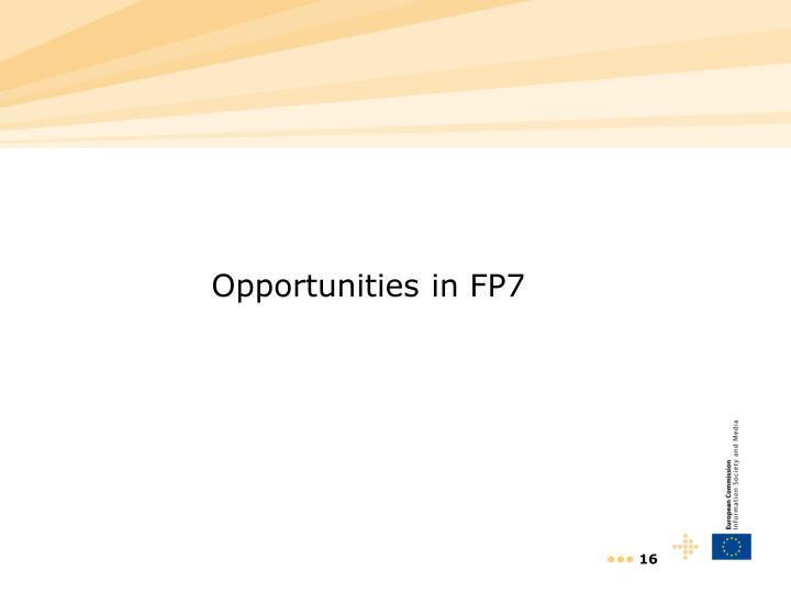 Opportunities in FP7