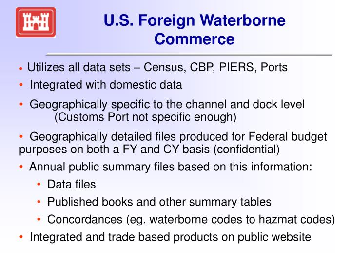 U.S. Foreign Waterborne Commerce