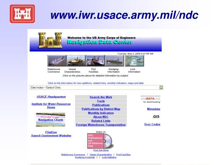 www.iwr.usace.army.mil/ndc