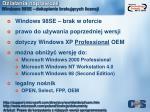 dzia ania naprawcze windows 98se dokupienie brakuj cych licencji