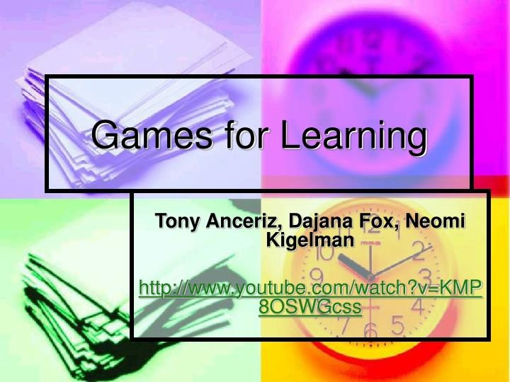 games for learning n.