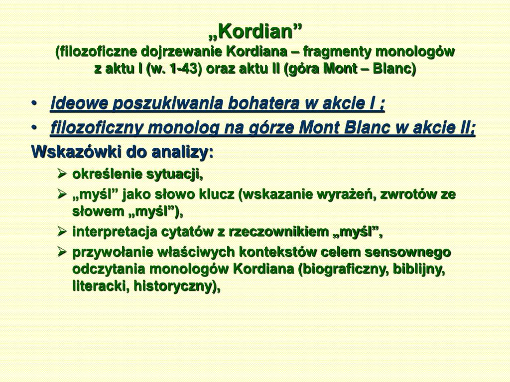 Ppt Juliusz Słowacki Powerpoint Presentation Free