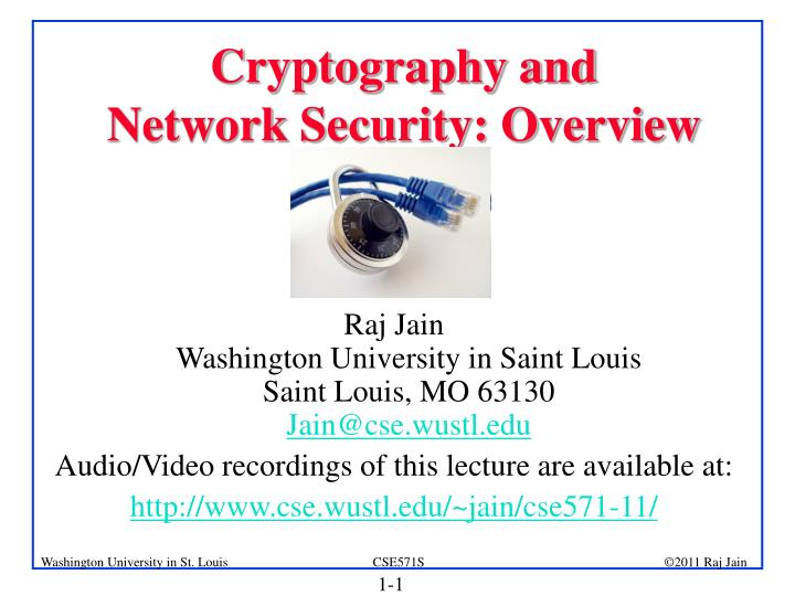 cryptography and network security overview n.