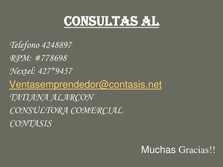 CONSULTAS AL