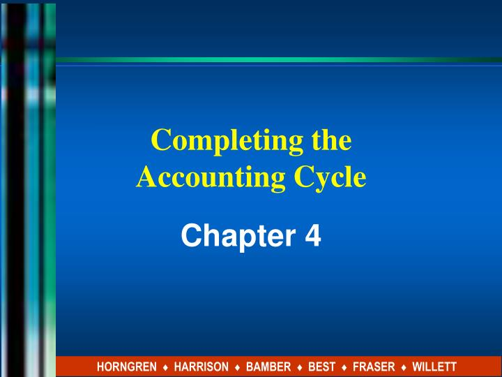 completing the accounting cycle n.