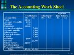the accounting work sheet1