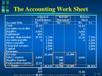 the accounting work sheet5