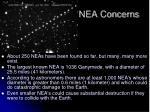 nea concerns