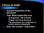 3 errors to avoid1