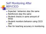 self monitoring after bep cico
