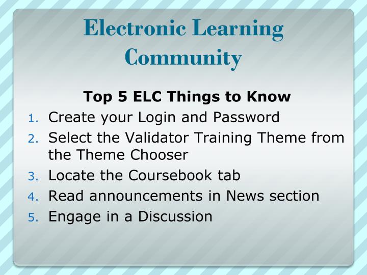 Electronic Learning Community