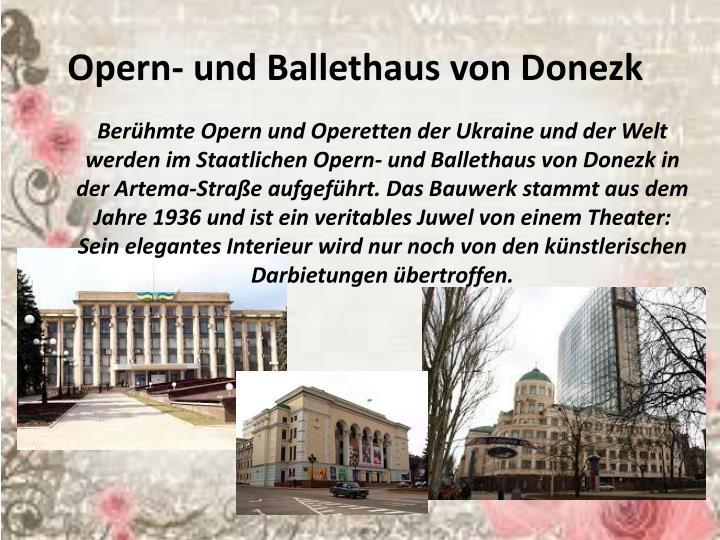 Opern- und Ballethaus von Donezk
