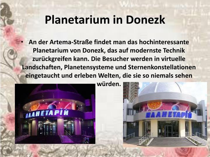 Planetarium in
