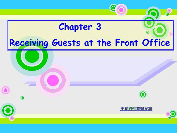 PPT - Chapter 3 Receiving Guests at the Front Office