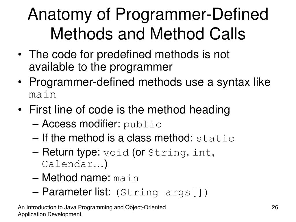 PPT - An Introduction to Java Programming and Object