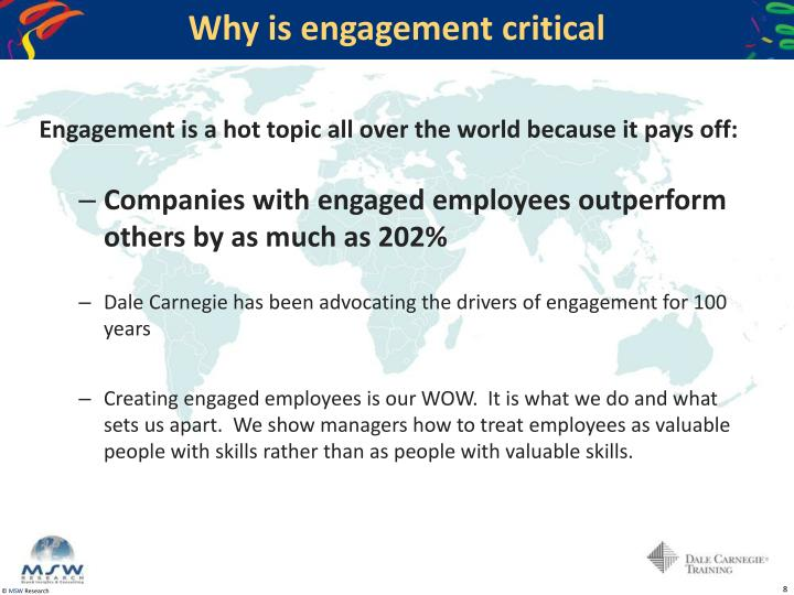 Why is engagement critical