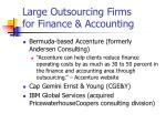 large outsourcing firms for finance accounting