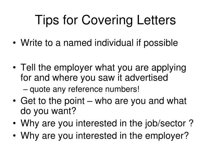 Tips for Covering Letters
