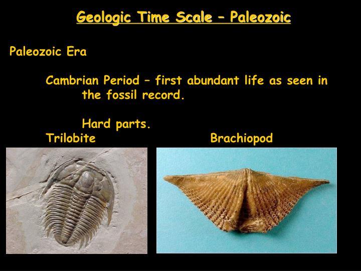 Geologic Time Scale – Paleozoic