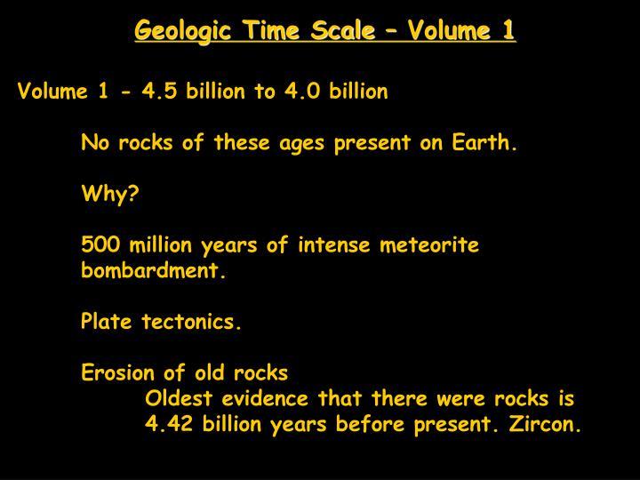 Geologic Time Scale – Volume 1